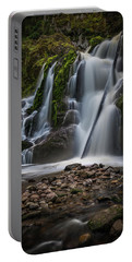 Forest Waterfall Portable Battery Charger by Chris McKenna