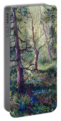 Forest Wildflowers Portable Battery Charger