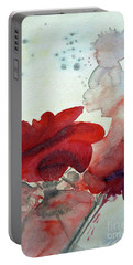 Portable Battery Charger featuring the painting Forever by Jasna Dragun