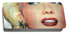 Forever Young - Marilyn Monroe Portrait Face Art Painting Portable Battery Charger
