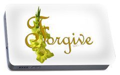 Portable Battery Charger featuring the digital art Forgive by Ann Lauwers