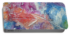 Portable Battery Charger featuring the painting Forgive Quickly by Tracy Bonin