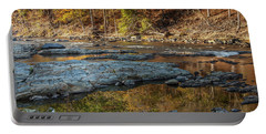 Portable Battery Charger featuring the photograph Fork River Reflection In Fall by Iris Greenwell