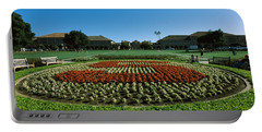 Formal Garden At The University Campus Portable Battery Charger by Panoramic Images