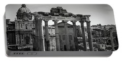Portable Battery Charger featuring the photograph Foro Romano, Rome Italy by Perry Rodriguez