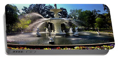 Forsyth Fountain In Spring Portable Battery Charger