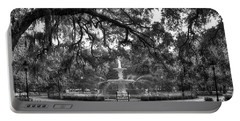 Forsyth Park Fountain 2 Savannah Georgia Art Portable Battery Charger