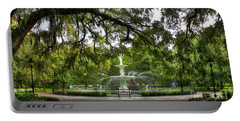 Forsyth Park Fountain Historic Savannah Georgia Portable Battery Charger