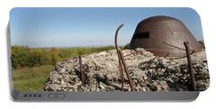 Fort De Douaumont - Verdun Portable Battery Charger by Travel Pics