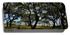 Fort Fisher Beach Trees  Portable Battery Charger