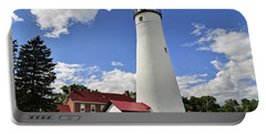 Fort Gratiot Light Portable Battery Charger by Rodney Campbell