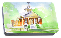 Portable Battery Charger featuring the painting Fort Hill Methodist Church 2 by Kip DeVore