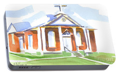 Portable Battery Charger featuring the painting Fort Hill Methodist Church by Kip DeVore