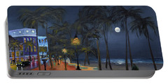 Fort Lauderdale Beach At Night Portable Battery Charger