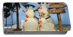 Fort Lauderdale Snowman Portable Battery Charger
