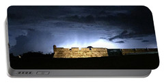Lightening At Castillo De San Marco Portable Battery Charger