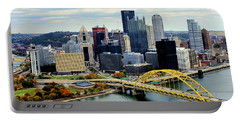 Fort Pitt Bridge Portable Battery Charger