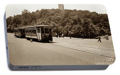Portable Battery Charger featuring the photograph Fort Tryon Trolley by Cole Thompson