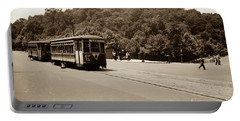 Fort Tryon Trolley Portable Battery Charger by Cole Thompson