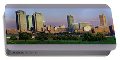 Portable Battery Charger featuring the photograph Fort Worth Colorful Sunset by Jonathan Davison