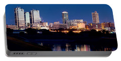 Fort Worth Skyline At Night Poster Portable Battery Charger