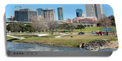 Fort Worth Trinity Park Portable Battery Charger by Frozen in Time Fine Art Photography