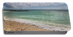 Portable Battery Charger featuring the photograph Fort Zachary Taylor Historic State Park Beach In Key West by Bob Slitzan