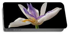 Fortnight Lily On Black Portable Battery Charger