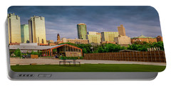 Fortworth Texas Cityscape Portable Battery Charger