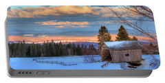 Portable Battery Charger featuring the photograph Foster Covered Bridge - Cabot, Vermont by Joann Vitali