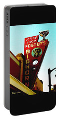 Foster's Bighorn Cafe Portable Battery Charger by Sadie Reneau