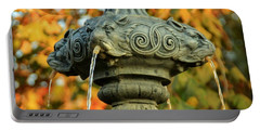 Portable Battery Charger featuring the photograph Fountain At Union Park by Chris Berry