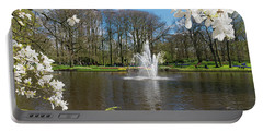 Fountain In Park Portable Battery Charger