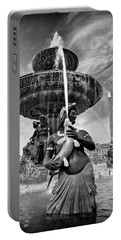 Portable Battery Charger featuring the photograph Fountain On Place De La Concorde - Paris by Barry O Carroll