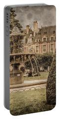 Paris, France - Fountain, Place Des Vosges Portable Battery Charger