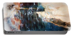 Portable Battery Charger featuring the digital art Fountain Pleasure by Margie Chapman
