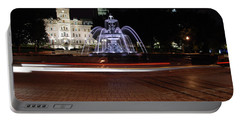 Fountaine De Tourny And Quebec Parliament Portable Battery Charger