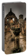 Fountains Abbey In Pouring Rain Portable Battery Charger