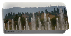 Fountains At Dawn Portable Battery Charger