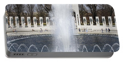 Fountains At The World War II Memorial In Washington Dc Portable Battery Charger