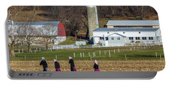 Four Amish Women In Field Portable Battery Charger