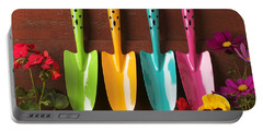 Four Colored Trowels  Portable Battery Charger
