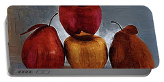 Four Fruits Portable Battery Charger by Kirt Tisdale