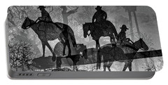 Four Horsemen Black And White Portable Battery Charger