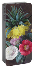 Four Peonies And A Crown Imperial Portable Battery Charger