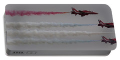 Four Red Arrows Smoke Trail - Teesside Airshow 2016 Portable Battery Charger
