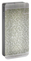 Four Score And Seven Years...... Portable Battery Charger by Allen Beatty