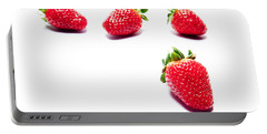Four Strawberries Portable Battery Charger