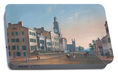 Portable Battery Charger featuring the painting Fourth Street. West From Vine by John Caspar Wild