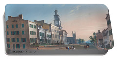 Fourth Street. West From Vine Portable Battery Charger by John Caspar Wild
